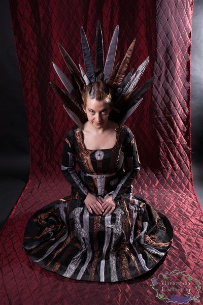 Iron Throne Dress, seated